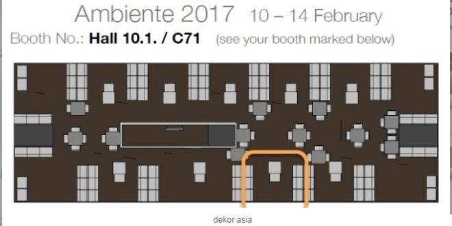 Upcoming Participant Ambiente Fair 10-14 Februari 2017